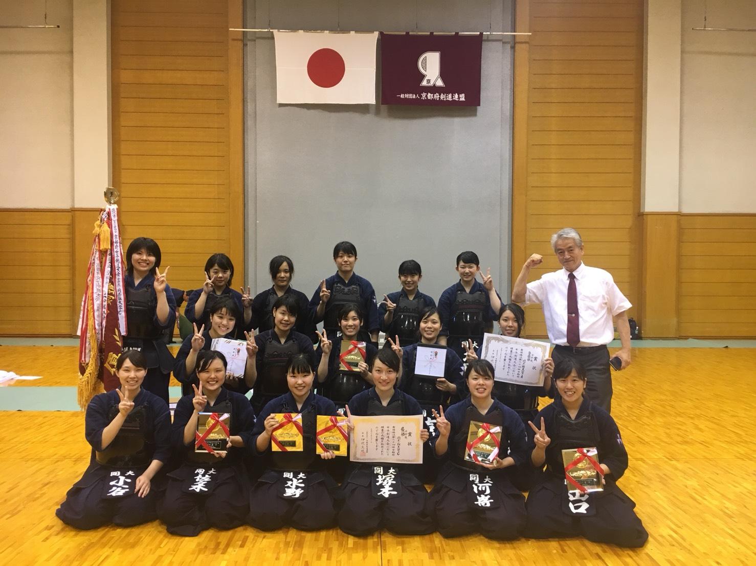 【結果報告】第34回京都府女子剣道大会(2018.7.1)